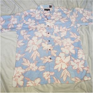 Vintage Hibiscus Flower Hawaiian Shirt